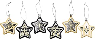 FOCO NFL Unisex 6 Pack Shatterproof Star Ornament Set