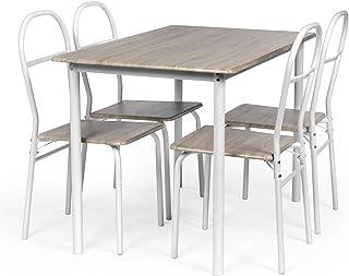 Amazonfr Ensemble Table Et 4 Chaises