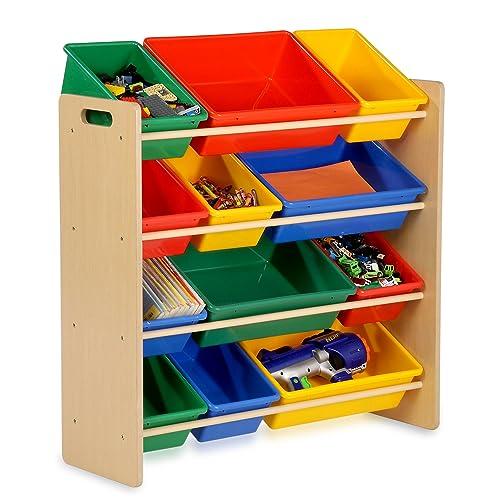 Honey Can Do SRT 01602 Kids Toy Organizer And Storage Bins, Natural