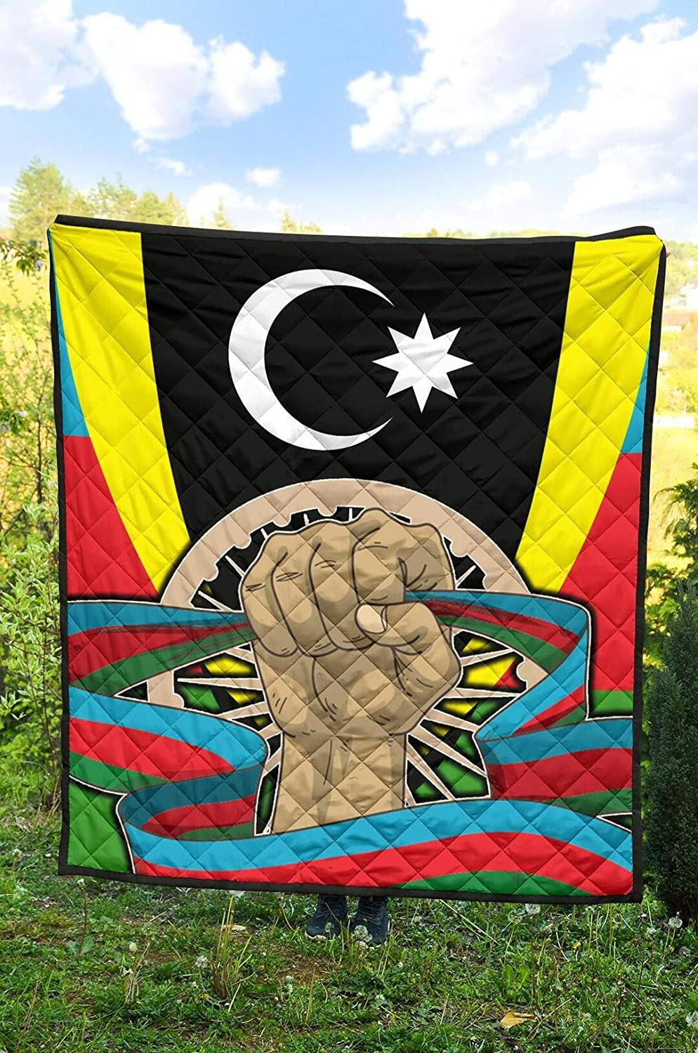 Personalized Azerbaijan Quilt National Milwaukee store Mall Flag Embl and