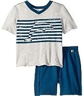 Dolphin Stripe Screen Print Set (Toddler/Little Kids/Big Kids)