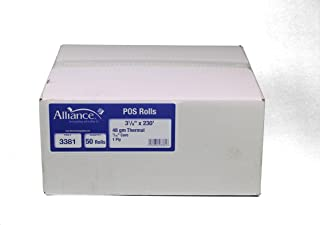 Thermal Paper Receipt Rolls, 48 Gram Weight, BPA Free, Grade A, Pure 85 White Paper, Unique Thermal Coating (3-1/8