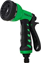 Trazon Garden Hose Nozzle Heavy Duty, High Pressure. Water Hose Nozzle Sprayer, Gun, Head. Spray Nozzle for Garden Hose, 9 Adjustable Watering Patterns, Best Nozzles for Garden, Lawn, Car Wash
