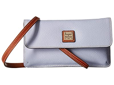 Dooney & Bourke Pebbble Milly Crossbody (Glacier Blue/Tan Trim) Cross Body Handbags