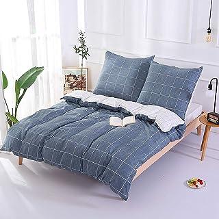 Unimall Funda Nordico cama 90, Tres piezas una funda para edredon 155 x 220cm y dos funda almohada cuadrada 80 x 80cm, 100% de algodon