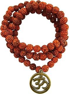 108 Rudraksh Prayer Beads Bracelet/Necklace Mala With OM - Unisex (JWL1839)