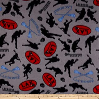 Newcastle Fabrics Polar Fleece Lacrosse Grey Fabric By The Yard