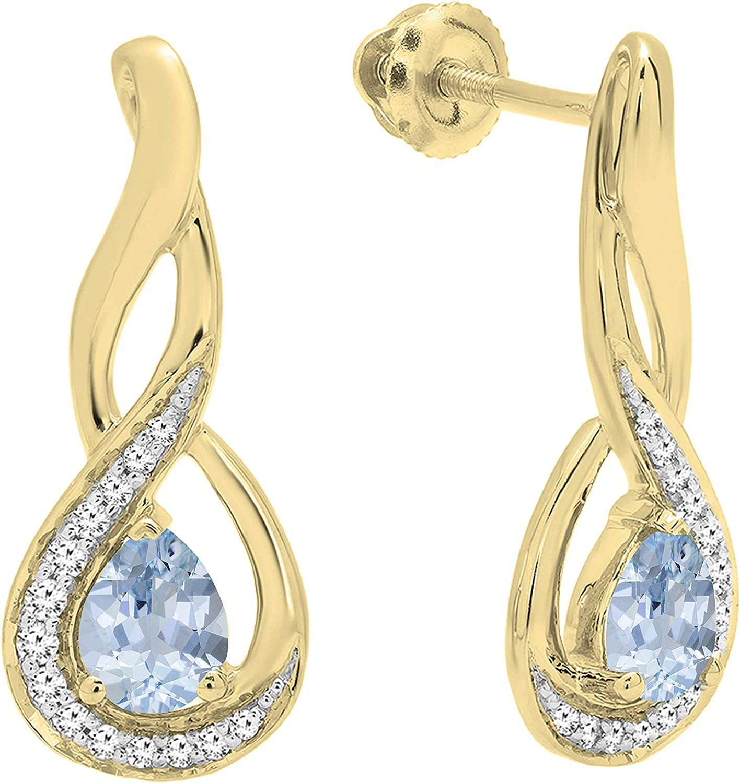 Dazzlingrock Collection 5X4 MM Each Choice Gemstone Diamon Pear Ranking TOP2 Round