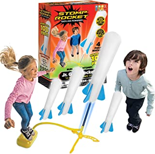 Stomp Rocket The Original Jr. Glow Rocket Launcher, 4 Foam Rockets and Toy Air Rocket Launcher - Outdoor Rocket STEM Gift for Boys and Girls Ages 3 Years and Up - Great for Outdoor Play