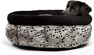 Disney Nightmare Before Christmas Jack Skellington Cuddle Cup Dog Bed/Cat Bed, Machine Washable, Dirt/Water Resistant Bottom, High Walls for Deeper Rest