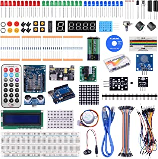 Kuman Project Mega 2560 Complete Starter Kit with Detailed Tutorial and Reliable Components for Mega 2560 Robot Nano breadboard Kits