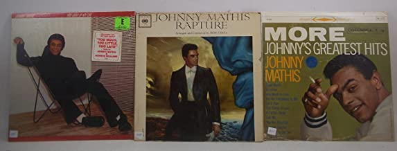 Johnny Mathis Lot of 3 Vinyl Record Albums You Light up My Life and more