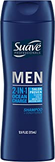Suave Men 2 in 1 Shampoo and Conditioner, Ocean Charge, 12.6 Fl Oz (Pack of 6)