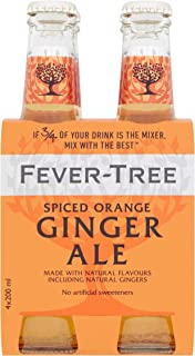 Fever-Tree Spiced Orange Ginger Ale, No Artificial Sweeteners, Flavourings or Preservatives, 6.8 Fl Oz (Pack of 24)