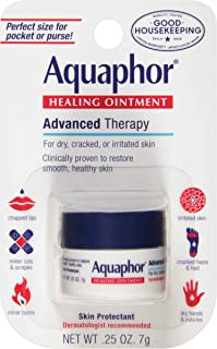 Aquaphor Healing Ointment - To Relieve Chapped, Dry, Cracked Skin On-the-Go - .25 oz. Mini Jar