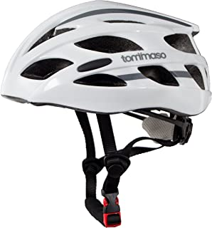 Tommaso Aria Ultra Lightweight Cycling Helmet Road & MTB Bike Adjustable Fit 3 Sizes 4 Colors (Black,Matte Black,White,Titanium) Fully Certified Safety Protection, Men Women Youth