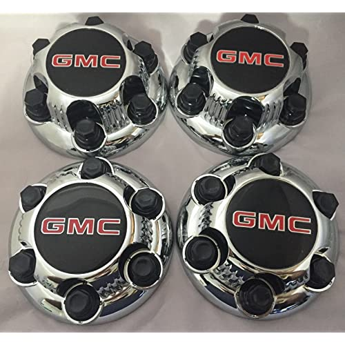 REPLACEMENT PART: Set of 4 Chrome GMC Sierra Yukon Savana 6 Lug 1500 Center Caps