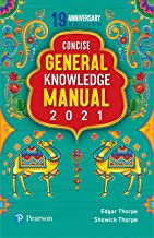 Pearson Conscise General Knowledge Manual 2021 | For SSC, Railways, Bank PO, SBI & other competetive exams | By Pearson