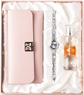Avighna Women's Luxurious Perfume, Watch and Multicolour Clutch Combo Set