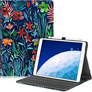 "Fintie Case for iPad Air (3rd Gen) 10.5"" 2019 / iPad Pro 10.5"" 2017- [Sleek Shield] Premium PU Leather Slim Fit Multi Angle Stand Cover with Pocket, Pencil Holder, Auto Wake/Sleep, Jungle Night"