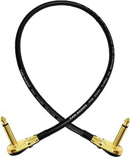 placcato oro con coperture nero. 1//10,2/cm Chitarra Intrument cable Van Damme blu ultra 3/metre lunghezza chiuso con alta qualit/à Neutrik connettori jack mono da 6.3/mm