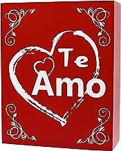 JennyGems-Te amo Gift - I Love You Gifts for her, Wood Sign Spanish Language I Love You, Te Amo Regalo - Amar - Te Quiero - Signo de Regalo - - Love Wall Decor