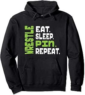 Eat Sleep Wrestle Repeat Wrestling Warm Up Hoodie