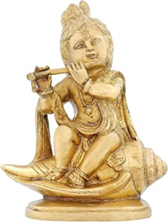 India Statue Hinduism Décoration Lord Krishna Religious Items for Puja 7.75 Inch,1.8 Kg