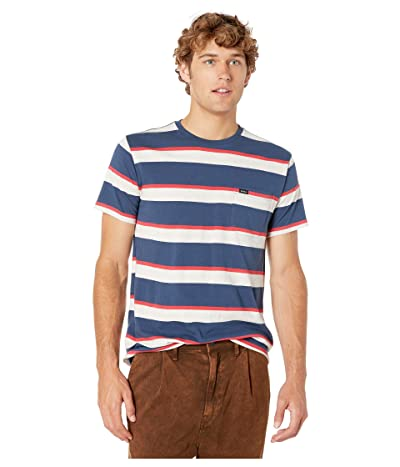 RVCA Fjords Stripe Crew (Seattle Blue) Men