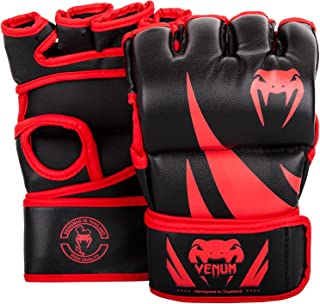 red and black mma gloves