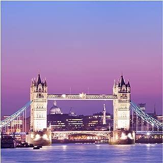 Self-Adhesive Wallpaper - Tower Bridge London at Night - Square Format 240x240cm