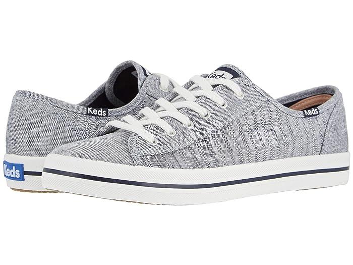 Keds  Kickstart Chambray Stripe Linen (Navy) Womens Shoes