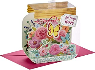 Hallmark Paper Wonder Pop Up Birthday Card for Women (Mason Jar, All Things Happy)
