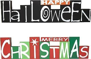 Best reversible halloween christmas sign Reviews