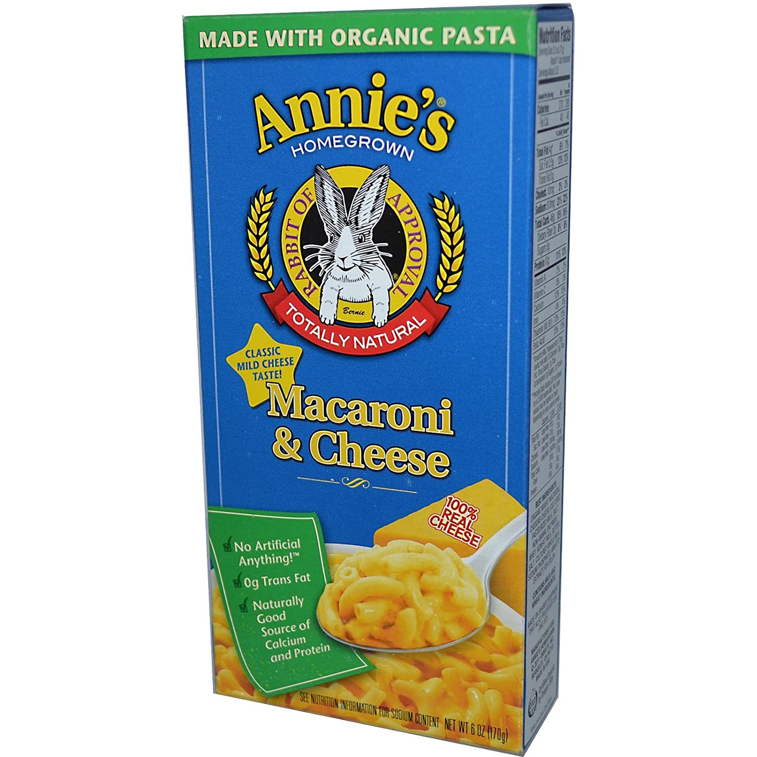 Annie's service Homegrown Macaroni Directly managed store Cheese 6 oz Pack 1 170 of g