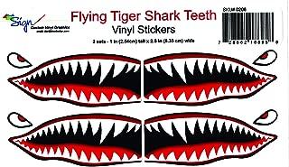 Flying Tigers shark teeth decals 1