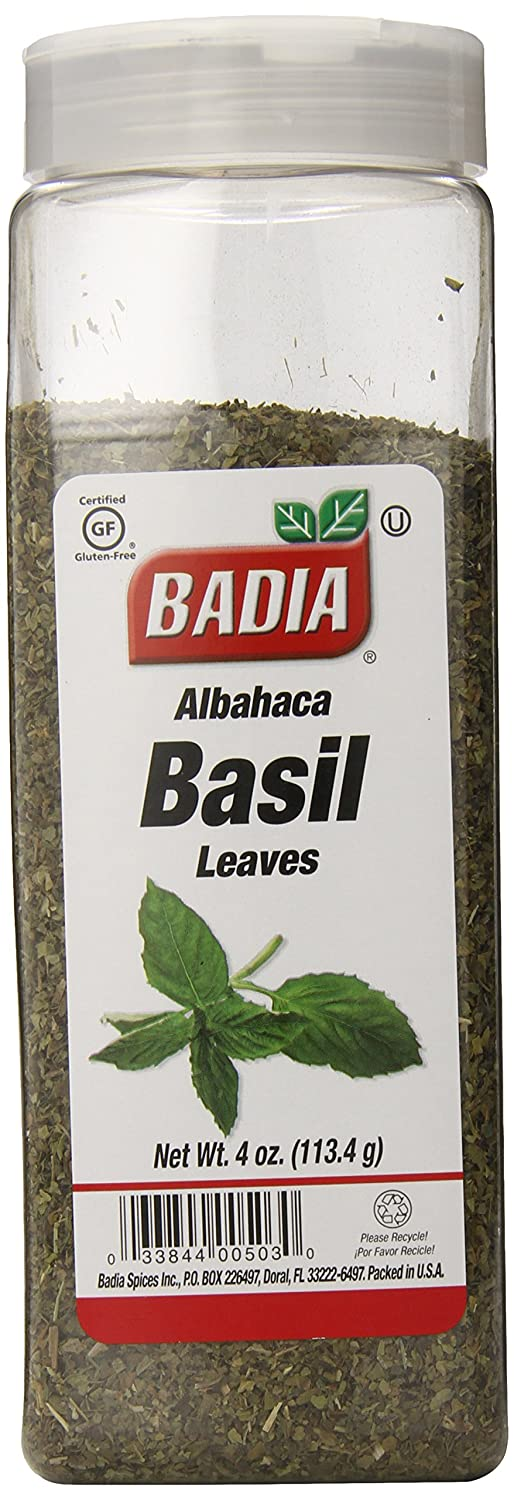 Badia Basil Animer and price revision Leaves Albahaca New life of 4-Ounce Pack 6
