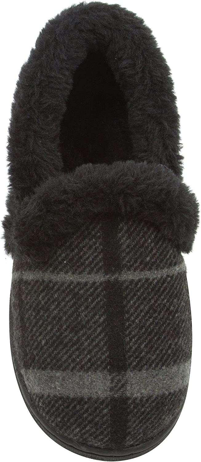 Skysole Boys price Plaid Closed Back Columbus Mall Slipper Plush and Rug Collor with