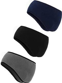 BBTO 3 Pieces Ear Warmer Headband Winter Headbands Fleece Headband for Women Men