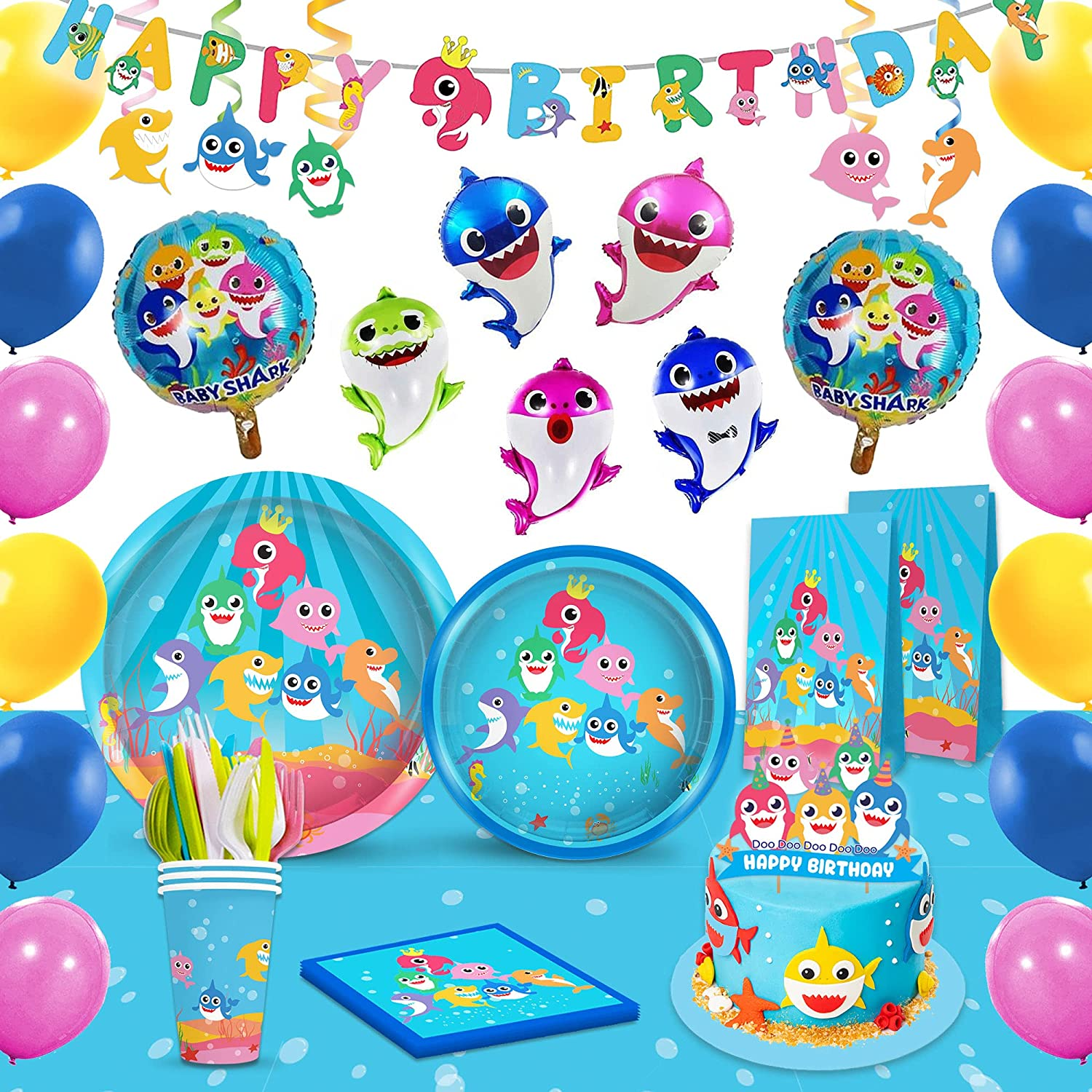 Shark Party Supplies Set Tableware kit for - Perfect Birthday Max 81% Purchase OFF
