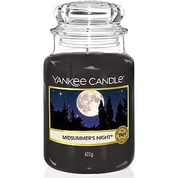 Yankee Candle 115174E Midsummer's Night Candele in giara Grande, Nero(Notte di Mezza Estate)
