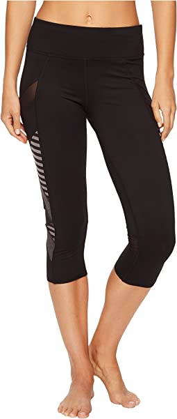 Studio Striped Cross Panel Capris