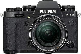 Fujifilm X-T3 - Cámara de objetivo intercambiable sin espejo con sensor APS-C de 261 Mpx video 4K/60p DCI pantalla táctil WIFI Bluetooth negro Kit con objetivo XF18-55mm F2.8-4 R LM OIS