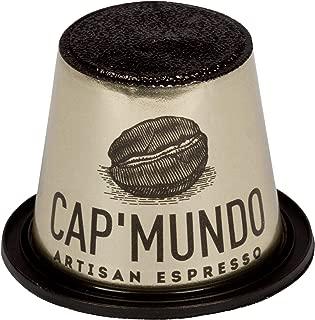 New Cap'Mundo Paris 50 Pods for Nespresso Original Line Machines – Dark Roast – French Artisanal Espresso (Ebene, 50 Capsules)