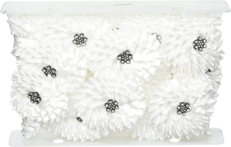 Expo International Very popular! 3-Inch Daleah Flower Deluxe Trim 5 Rhinestones with