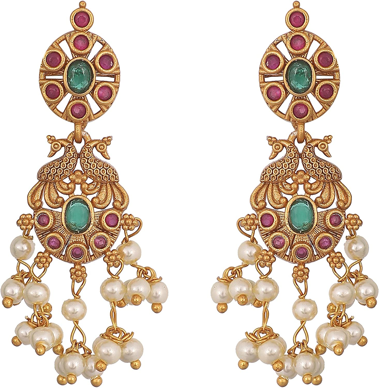 Tarinika Gold-Plated Indian Dori Necklace Set for Women and Girls