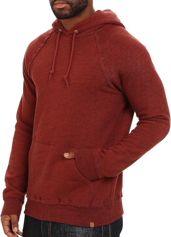 Obey Monument Heather Burgundy Rust Pullover Sweatshirt Men's Hoodie