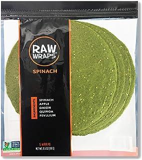 Spinach Wraps | Vegan | Raw | 60 Calories (Single Bag)