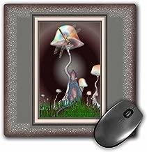 3dRose LLC Dragonfly Fantasy Fairytale Magic Animal Mushroom Mystery Friendship Pattern Mouse Pad (mp_24839_1)