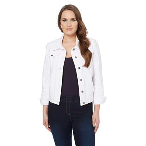 fc272766f White Jean Jacket for Women: Amazon.co.uk